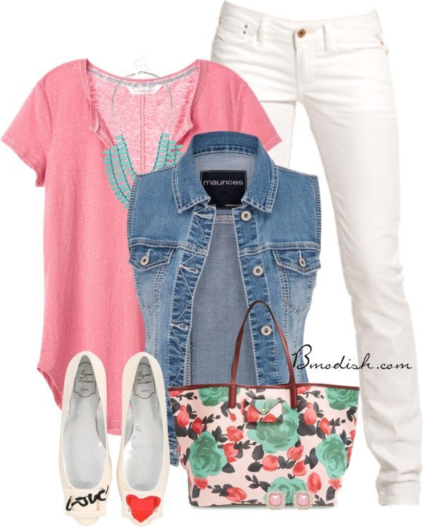 outfit for valentines day polyvore 1 via bmodish