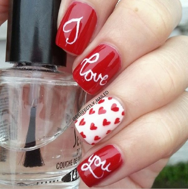 perfect i love you nail art bmodish