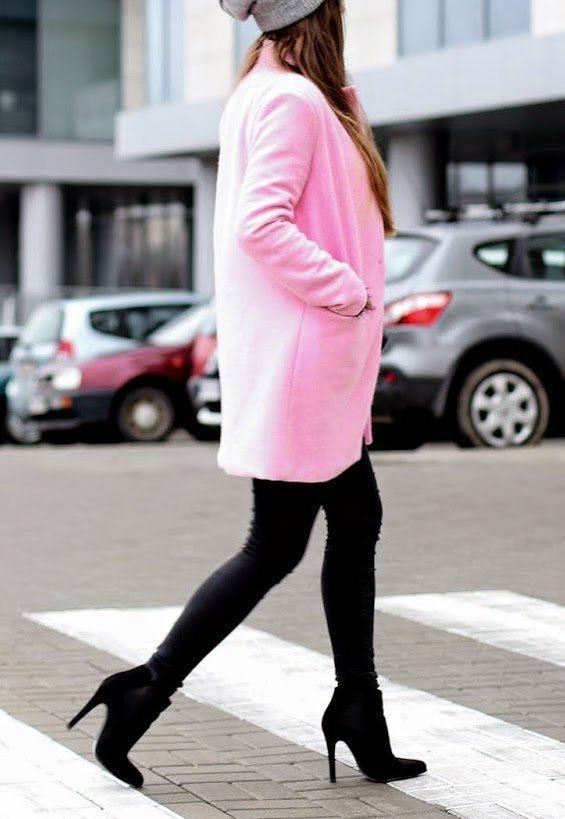 pink coat street style 2 bmodish