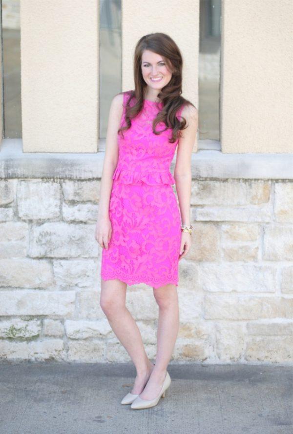 pink lace dress valentine dress bmodish