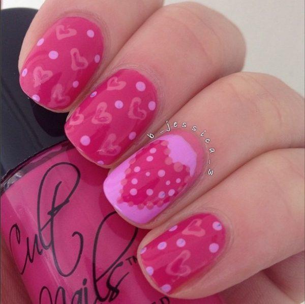 pink pink valentine nails bmodish