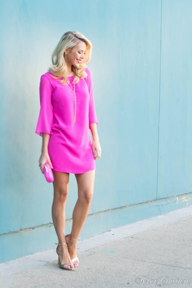 pink silk dress dress