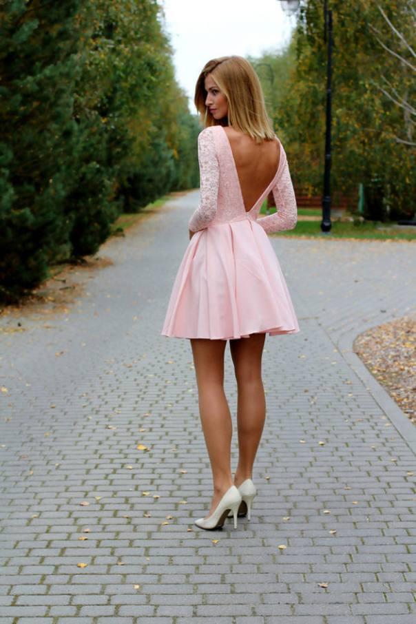 pink skater dress valentine dress bmodish