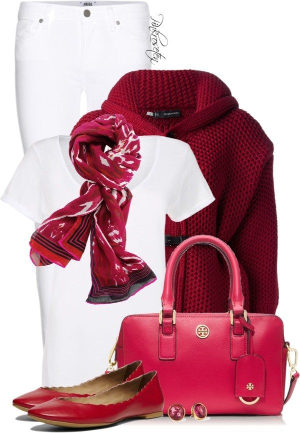 red, pink and white outfit for valentines day bmodish