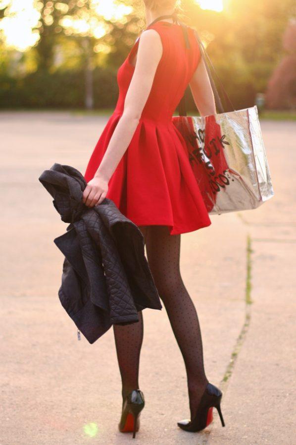 red skater dress valentine dress bmodish