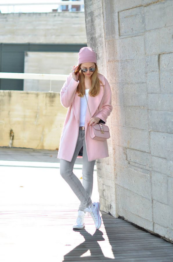 soft pink winter weekend wear bmodish