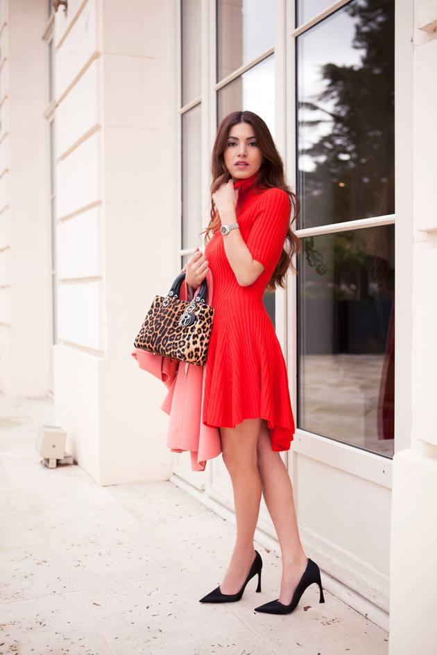 turtleneck red dress for valentines day bmodish