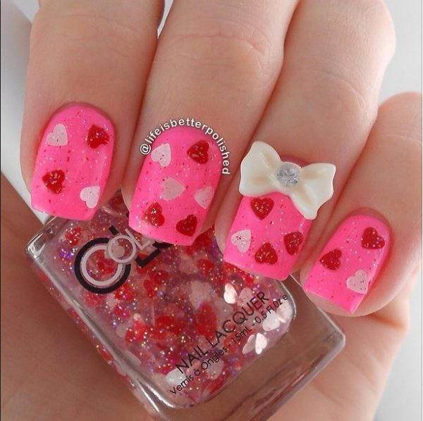 valentine surprise nail design bmodish