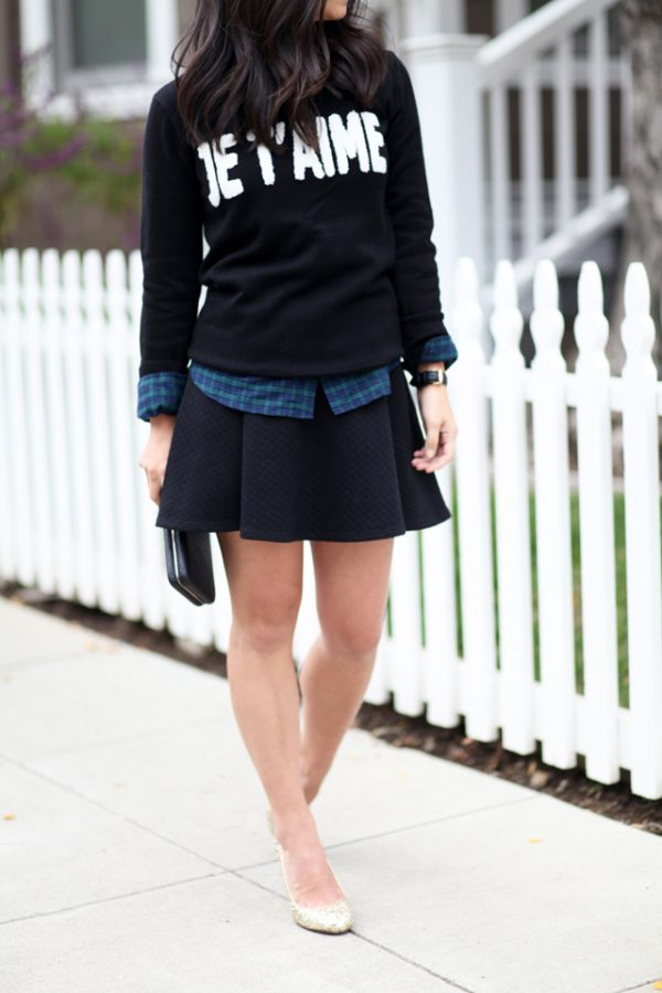 Black-skirt-holiday-outfit-inspiration bmodish