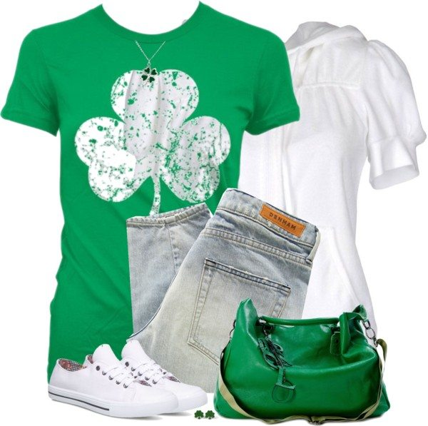 Casual Sweatshirt With T Shirt St Patrick Outfit Bmodish