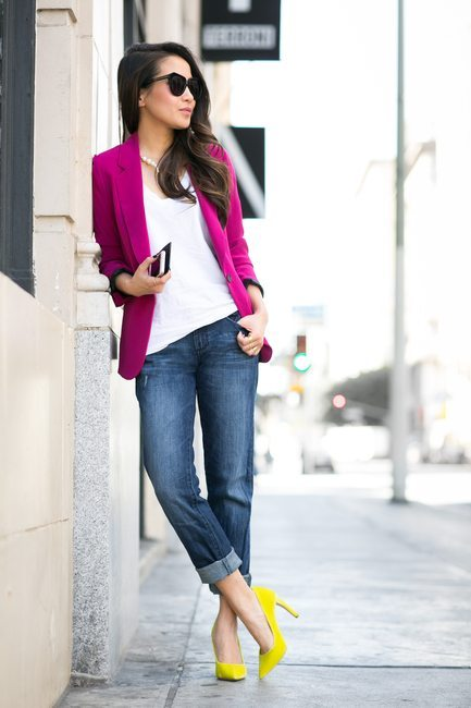 how to wear yellow high heels Color Splash spring outfit bmodish