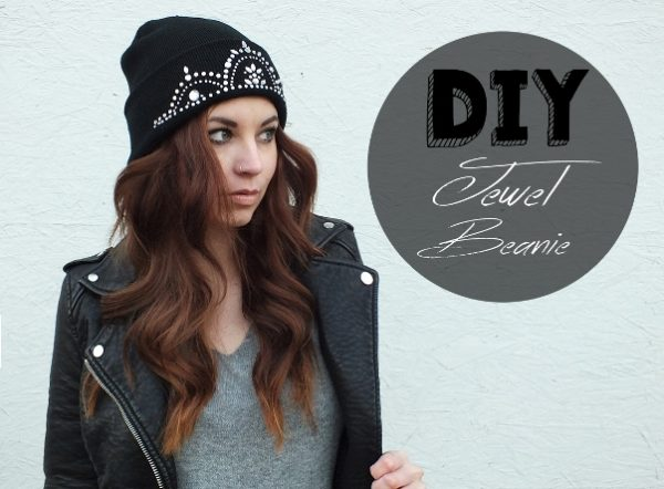 DIY jewel Beanie via bmodish