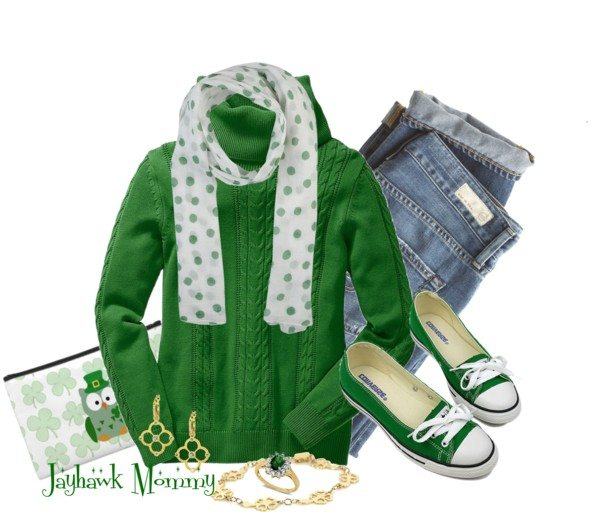 Green Pullover Casual St Patrick Outfit Bmodish