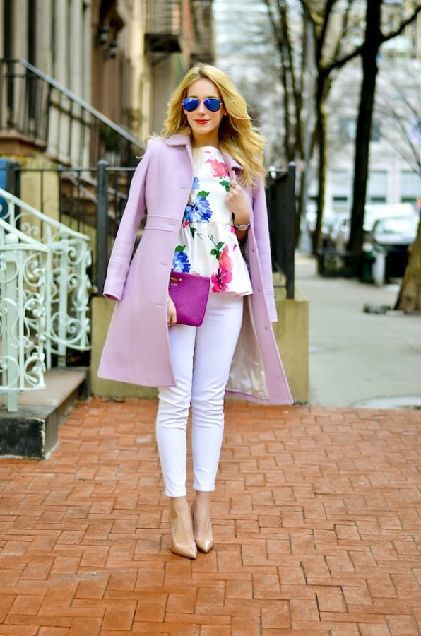 Kate Spade Floral Peplum Top spring outfit bmodish
