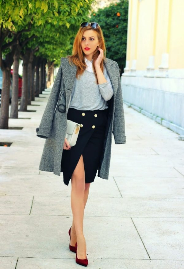 Long Blazer Coat Work Outfit Bmodish