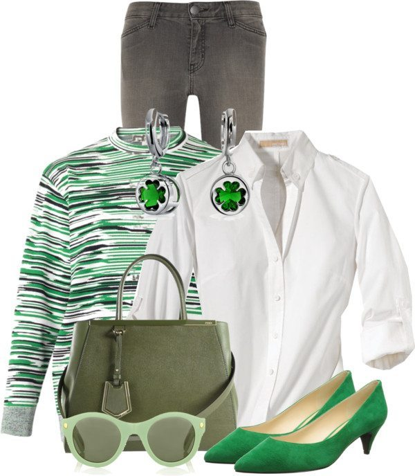 Low Heel Green Shoes St Patrick Outfit Bmodish