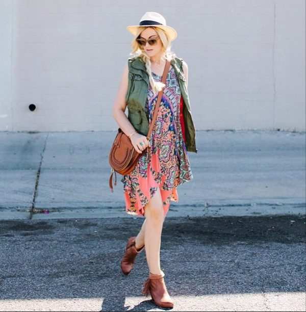 Paisley dress spring outfit bmodish