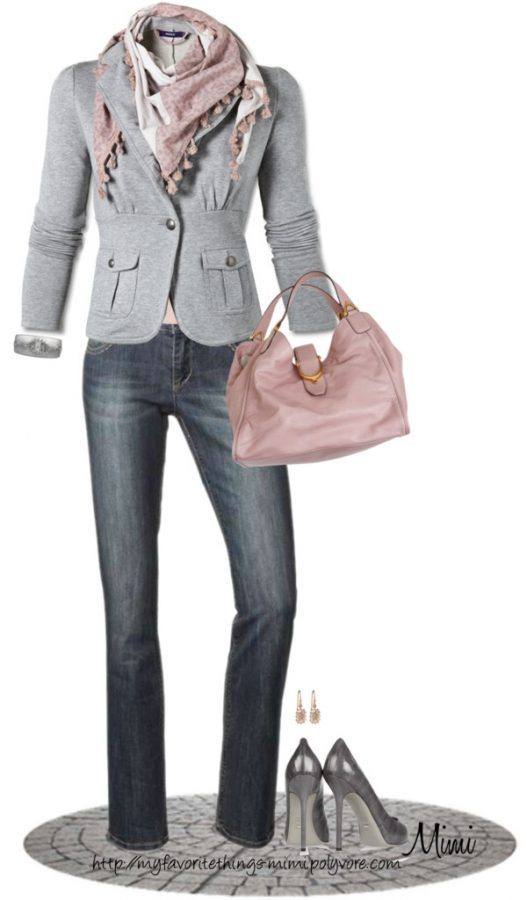 Pink and grey casual work wear bmodish