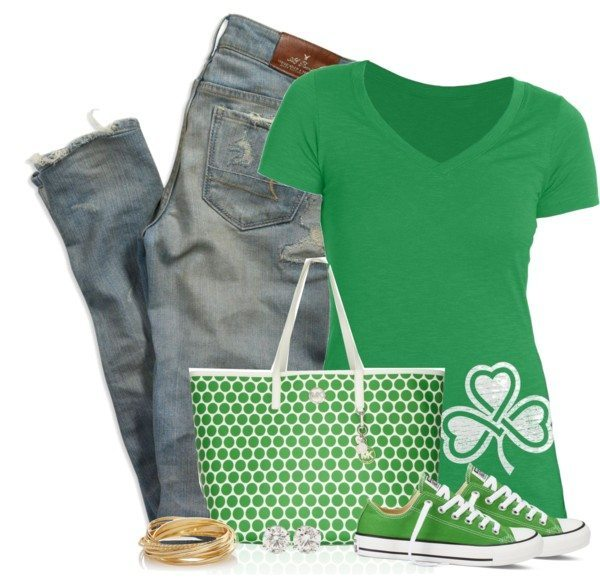Simple Casual St Patrick Outfit With Sneakers Bmodish