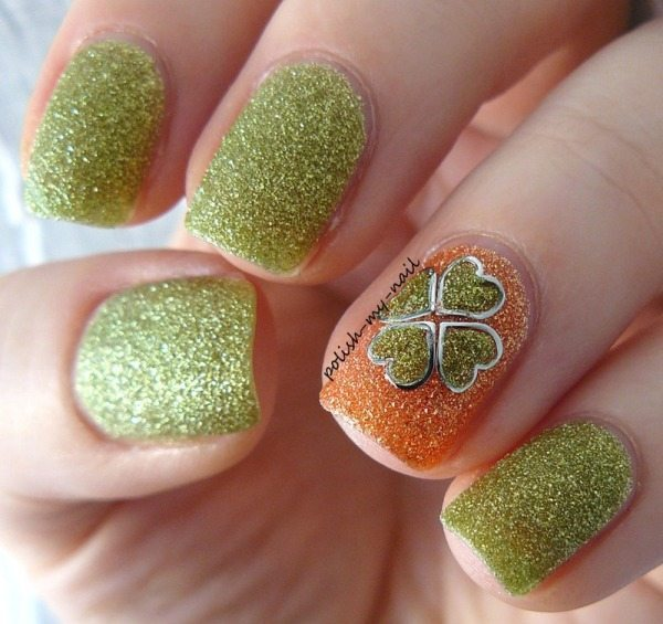 St Patricks clover nails bmodish