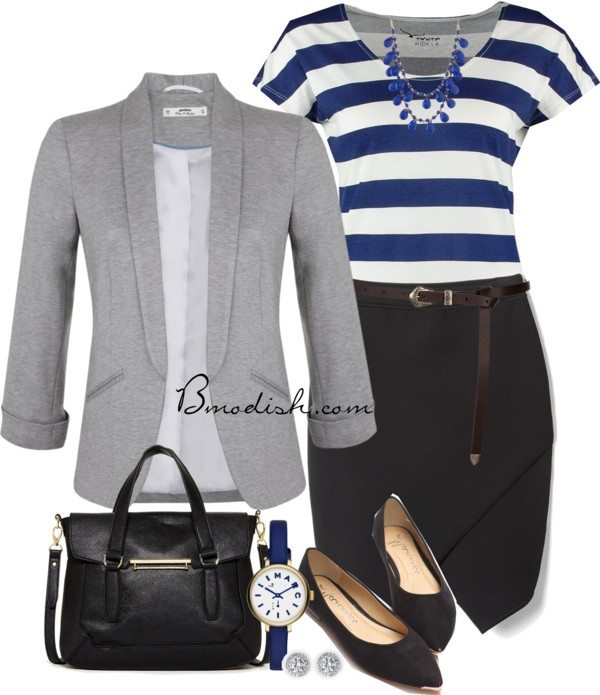 Stylish and casual work wear outfit bmodish