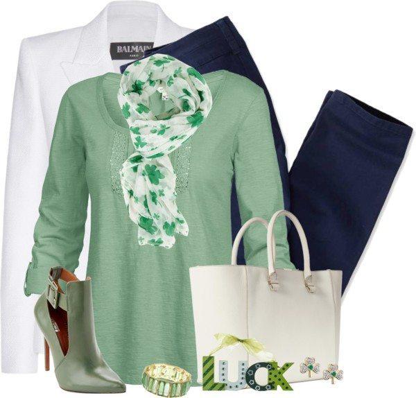 White Blazer St Patrick Outfit Bmodish
