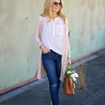 casual spring outfit with cardigan