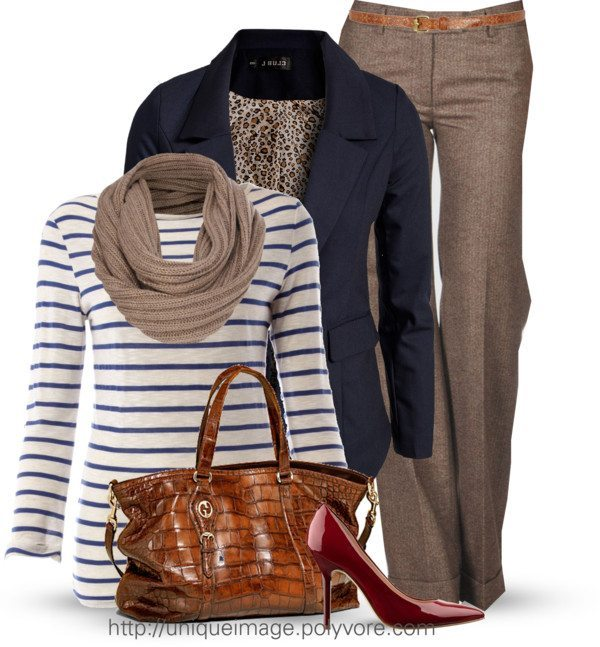 casual striped t shirt with blazer work outfit bmodish