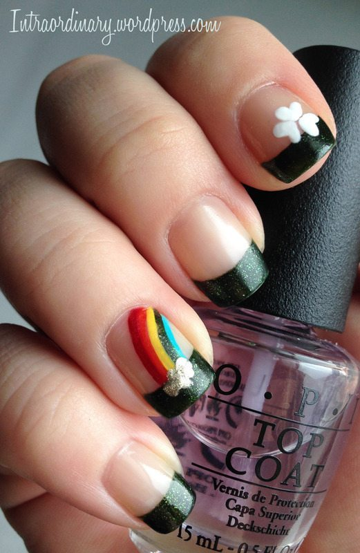 clover and rainbow st patrick days nails bmodish