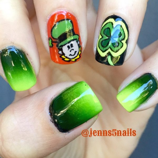 cute st patrick nail design bmodish