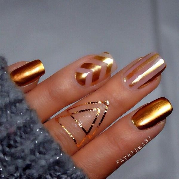 25 Simple But Artistic Negative Space Nail Art Collections Be Modish