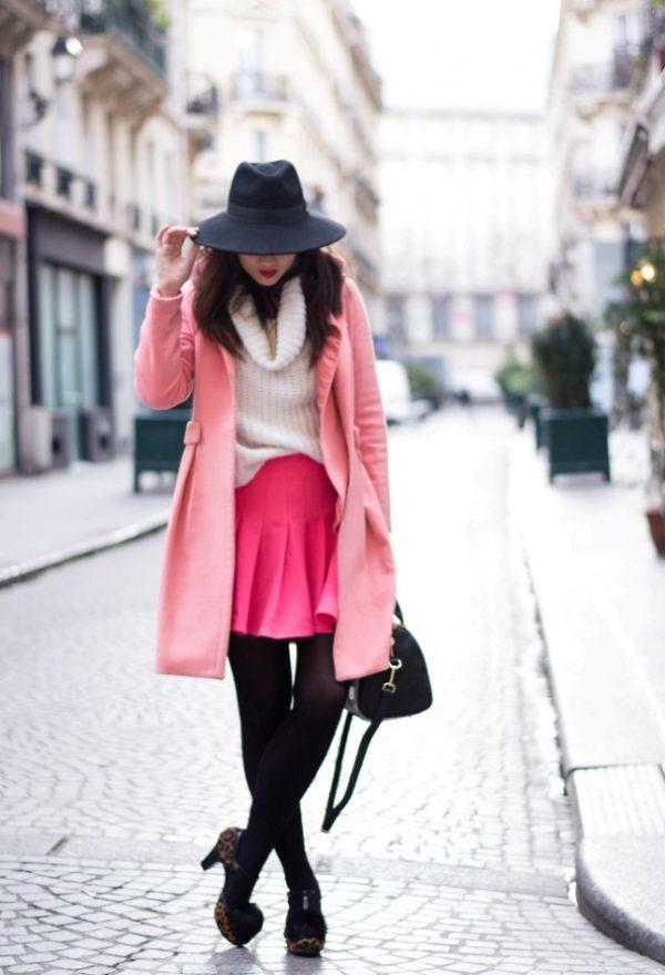 hoss-intropia-pink-hm-coats outfit bmodish