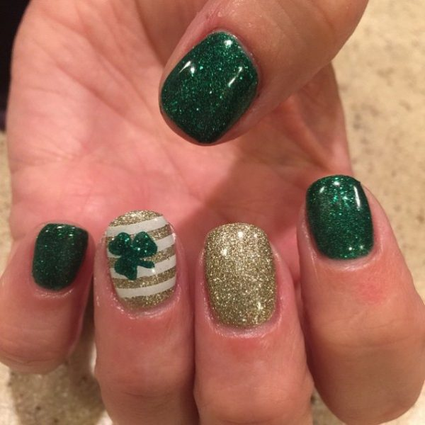 luck of irish st patrick day nail design bmodish