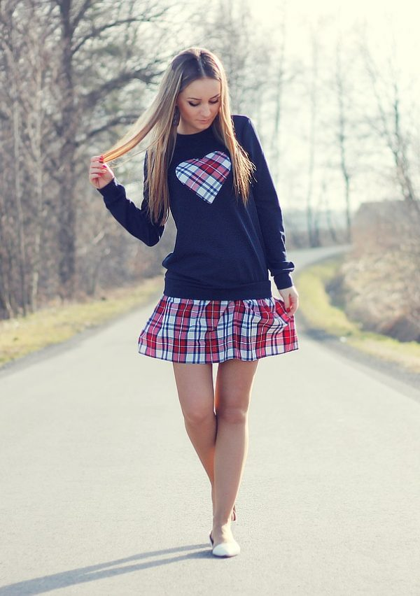 matching jumper with skirt spring outfit bmodish