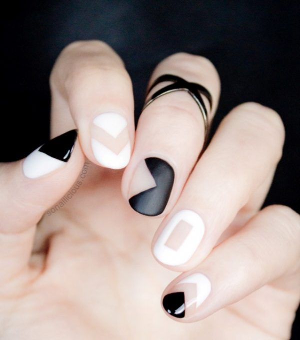 negative space nail design bmodish