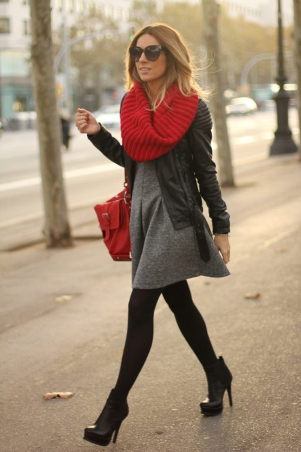 neoprene dress winter outfit bmodish