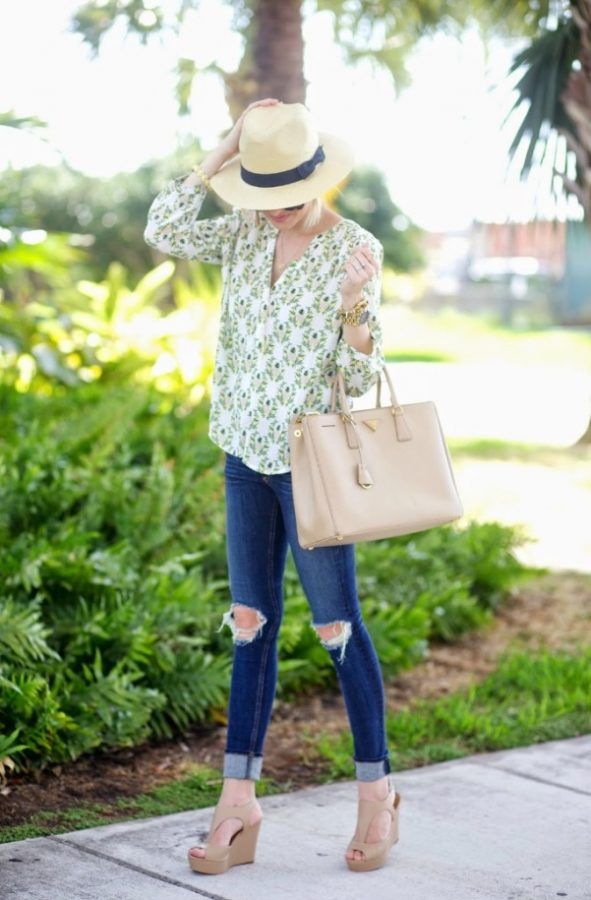 pineapple blouse spring style bmodish