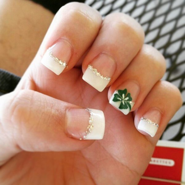 simple easy st patrick nails bmodish
