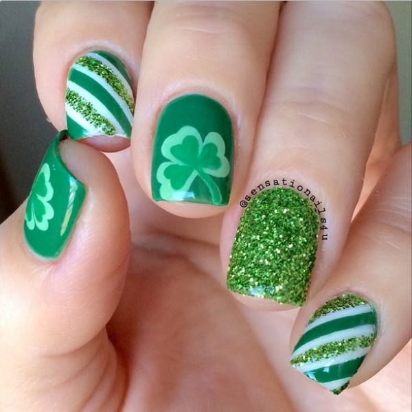 st patrick nail design bmodish