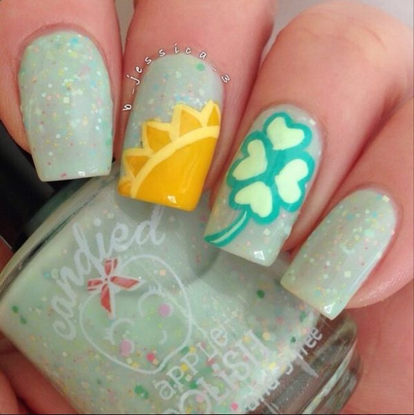 sunshine and clovers mani bmodish