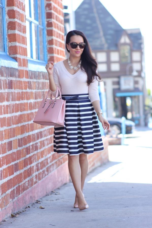 Chicwish Striped Tulip Skirt bmodish