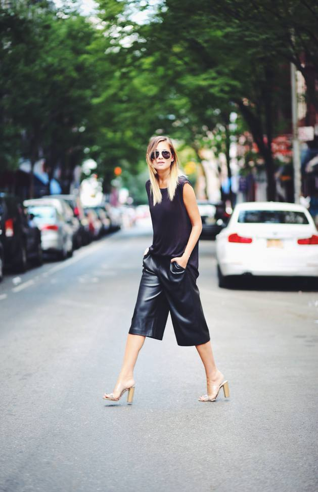 how to wear leather cullote bmodish