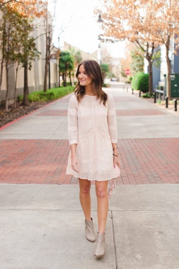 blush dress for spring bmodish