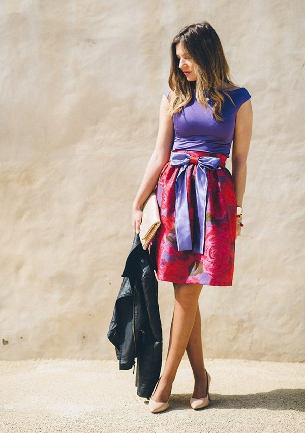 bright floral dress for spring summer bmodish