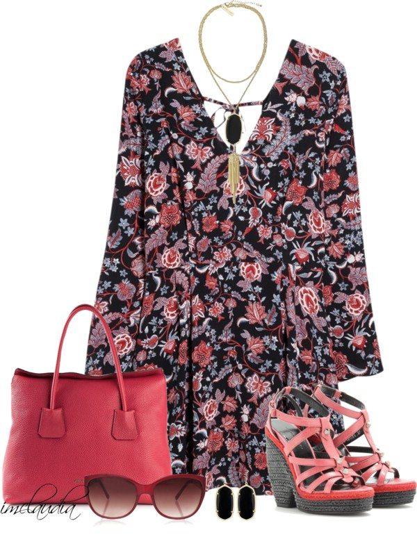 casual boho dress spring outfit polyvore bmodish