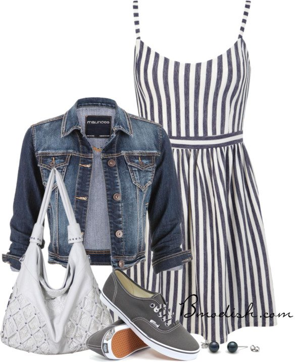 casual in stripe dress bmodish