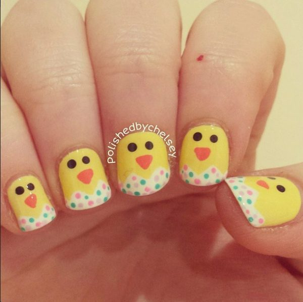 chicks easter nails bmodish