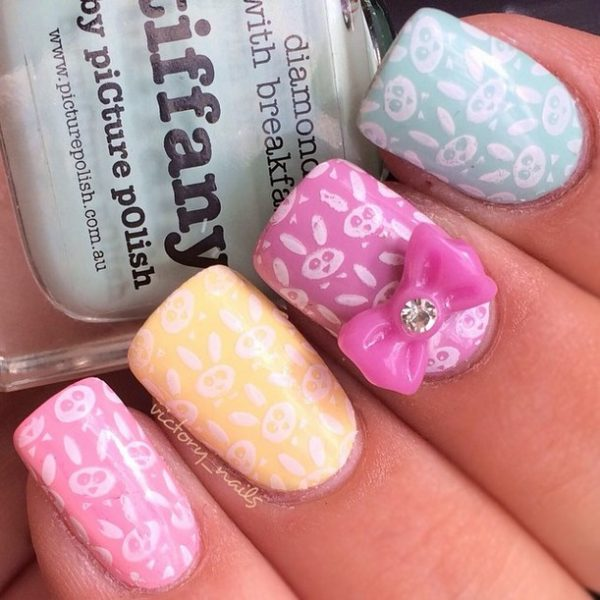 cute easter bunnies nail art bmodish
