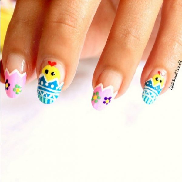 cute easter spring nail art bmodish