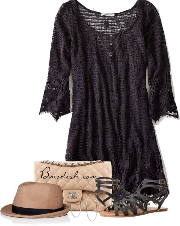 cute lace dress casual dress outfit bmodish